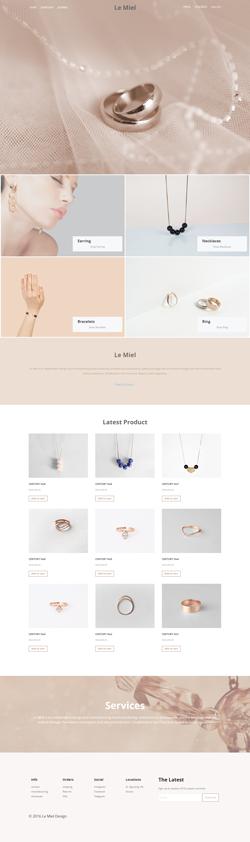 طراحی سایت فروشگاهی جواهرات ساعتچی