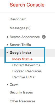 منو کنسول گوگل