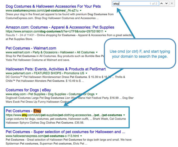 جستجو در نتایج گوگل