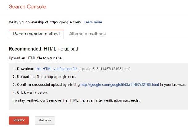 روش اول افزودن سایت به گوگل وبمستر