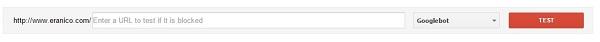 تست آدرس های محدود شده در فایل robots.txt